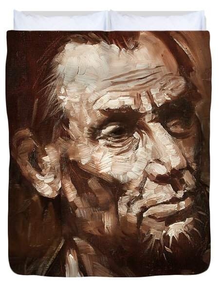 Abraham Lincoln Duvet Cover by Ylli Haruni