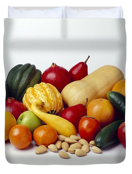 Agriculture - Autumn Fruits Duvet Cover by Ed Young