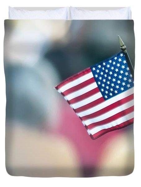 American Flag Duvet Cover by Alex Grichenko