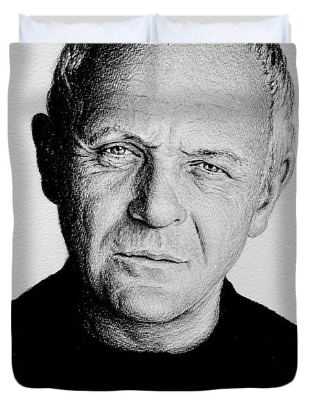 Anthony Hopkins Duvet Cover by Andrew Read
