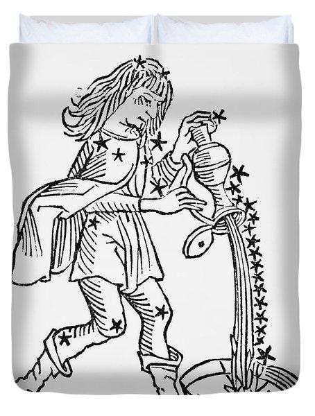 Aquarius An Illustration Duvet Cover by Italian School