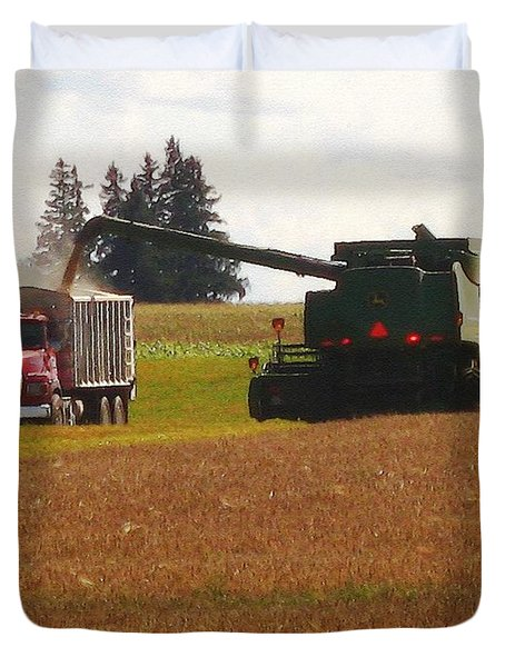 August Harvest Duvet Cover by J McCombie