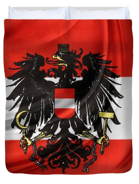 Austrian Flag Duvet Cover by Les Cunliffe