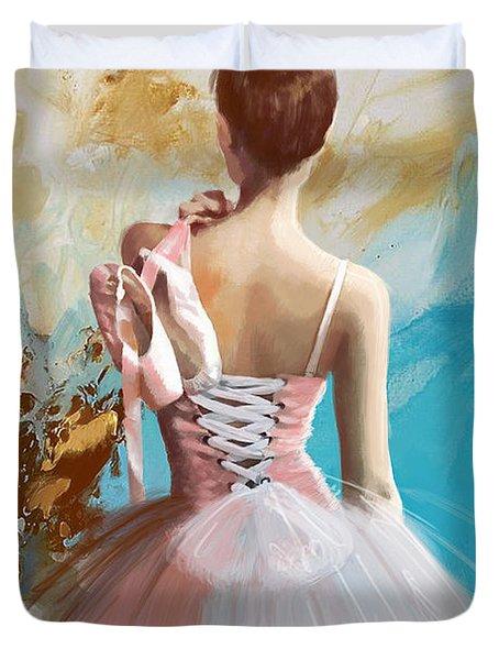 Ballerina's Back Duvet Cover by Corporate Art Task Force