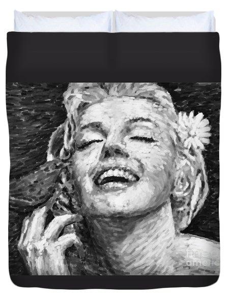 beautifully happy Duvet Cover by ATIKETTA SANGASAENG
