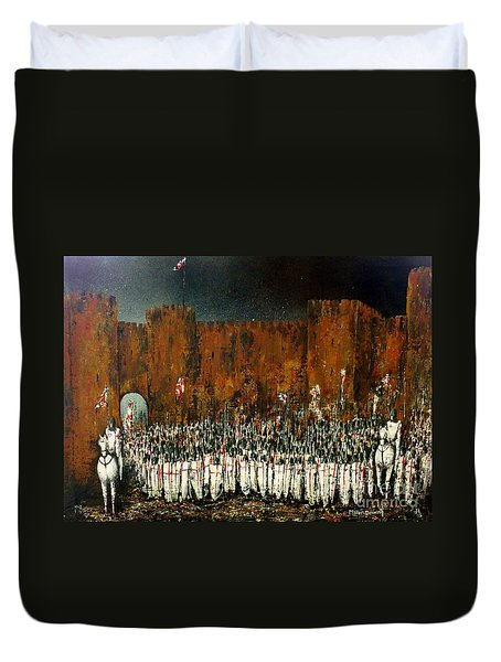 Before Battle Duvet Cover by Kaye Miller-Dewing