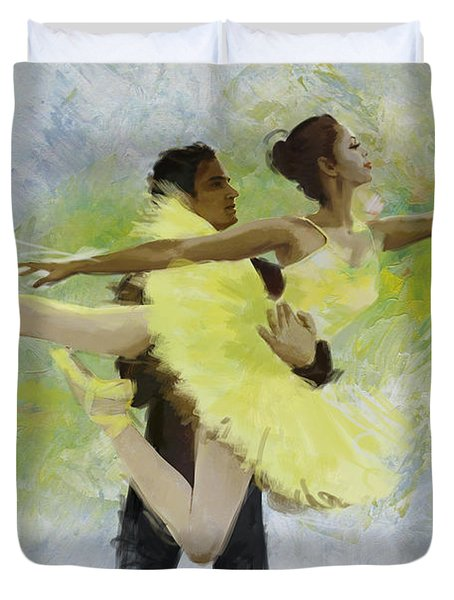 Belly Dancers Duvet Cover by Corporate Art Task Force