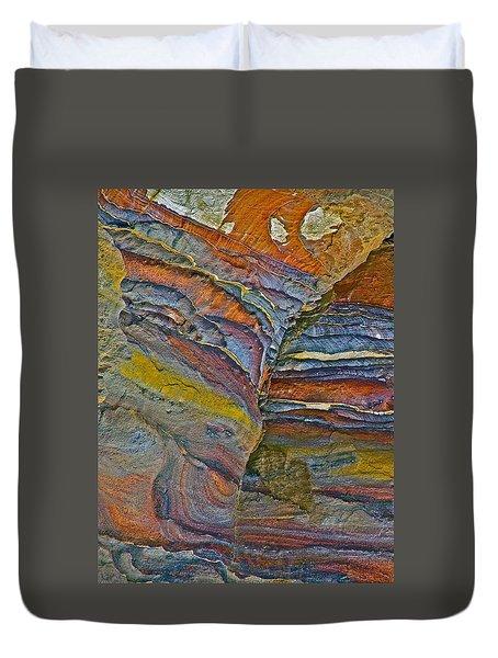 Belly Eyes Rock In Petra-jordan Duvet Cover by Ruth Hager