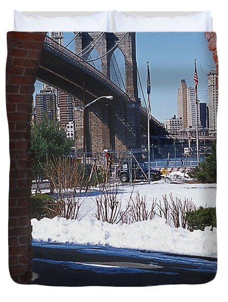 Bklyn Bridge Duvet Cover by Bruce Bain