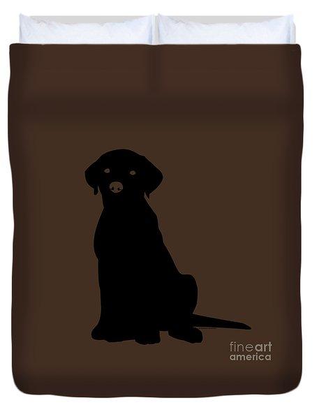 Black Labrador Duvet Cover by Elizabeth Harshman
