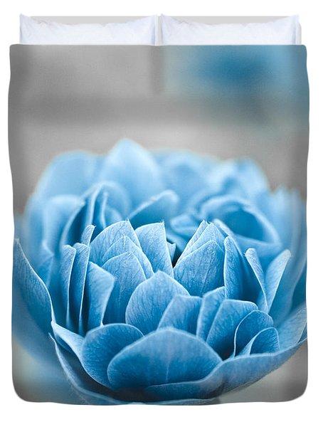 Blue Flower Duvet Cover by Frank Tschakert