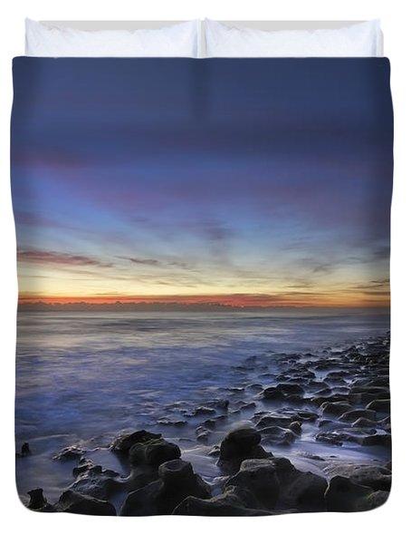 Blue Lagoon Duvet Cover by Debra and Dave Vanderlaan