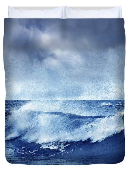 Blue Wave Duvet Cover by Guido Montanes Castillo