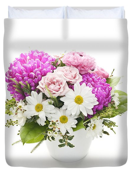 Bouquet Of Flowers Duvet Cover by Elena Elisseeva