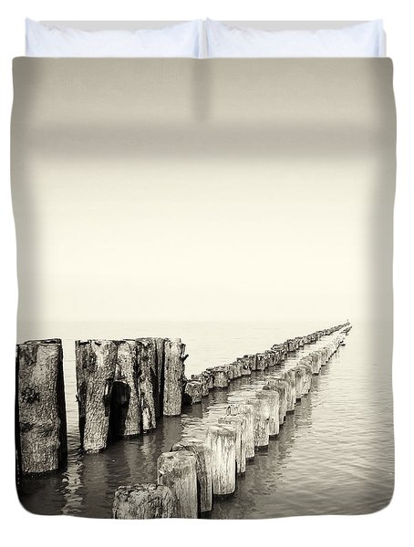Breakwaters Duvet Cover by Wim Lanclus