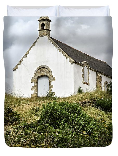 Breton church Duvet Cover by Elena Elisseeva