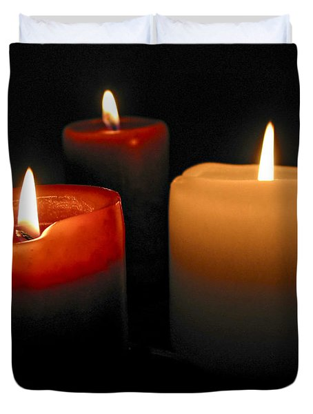 Burning candles Duvet Cover by Elena Elisseeva