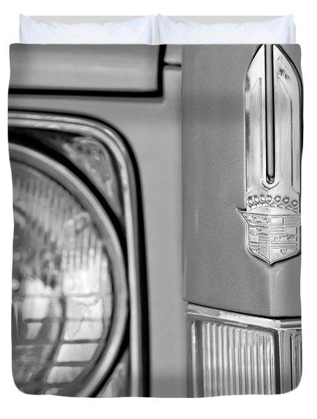 Cadillac Headlight Emblem Duvet Cover by Jill Reger