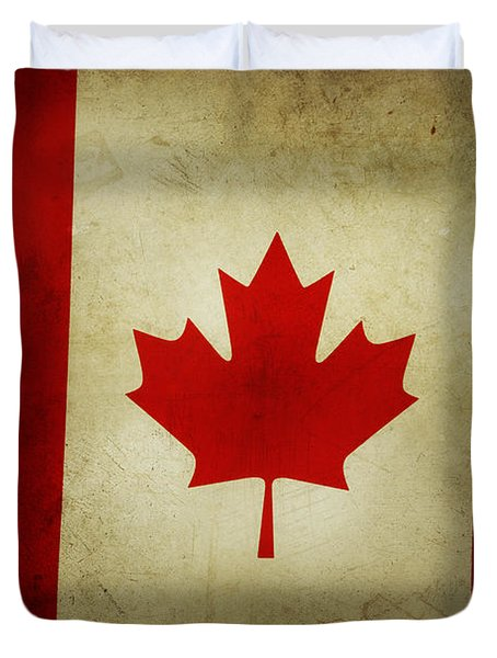 Canadian Flag  Duvet Cover by Les Cunliffe
