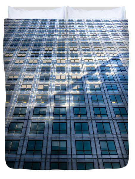 Canary Wharf Tower Duvet Cover by David Pyatt