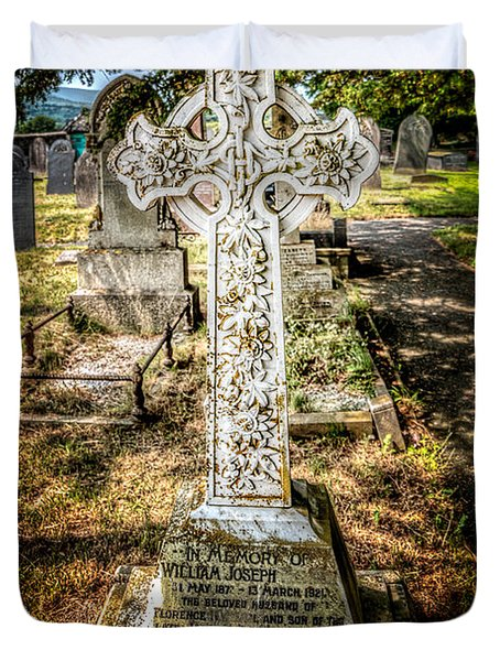Celtic Cross Duvet Cover by Adrian Evans