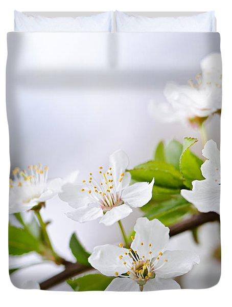 Cherry blossoms Duvet Cover by Elena Elisseeva