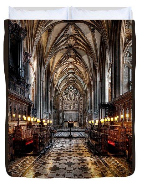 Church Interior Duvet Cover by Adrian Evans