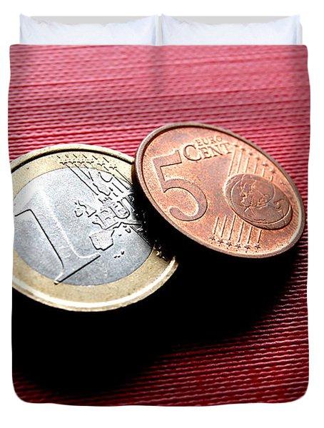 Coins Euro Duvet Cover by Michal Bednarek