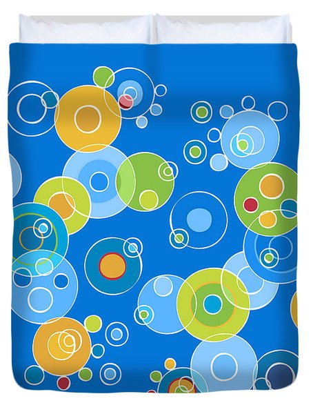 Colorful Circles Duvet Cover by Frank Tschakert