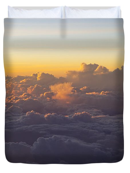 Colorful Clouds Duvet Cover by Brian Jannsen