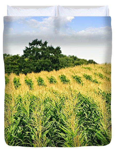 Corn field Duvet Cover by Elena Elisseeva