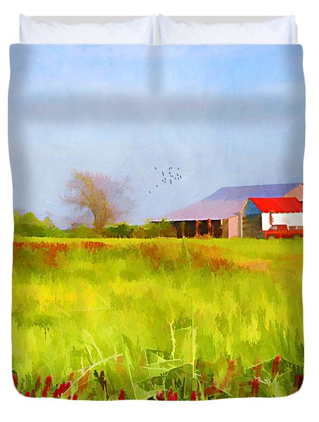 Country Kind Of Spring Duvet Cover by Darren Fisher