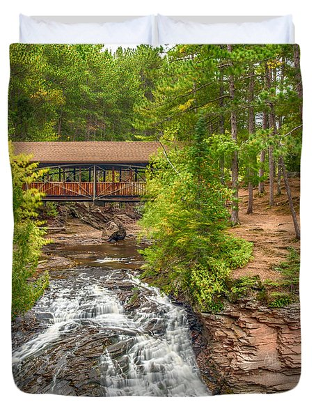 Covered Bridge Duvet Cover by Paul Freidlund