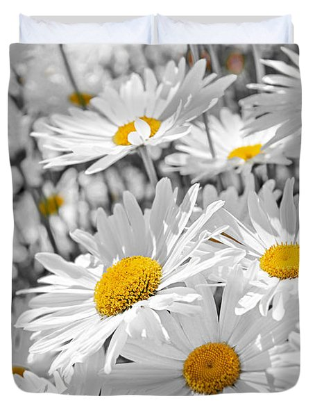 Daisies In Garden Duvet Cover by Elena Elisseeva