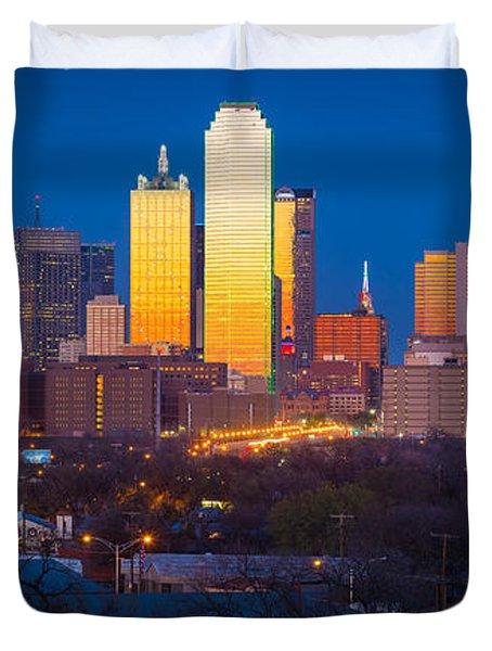 Dallas Skyline Duvet Cover by Inge Johnsson