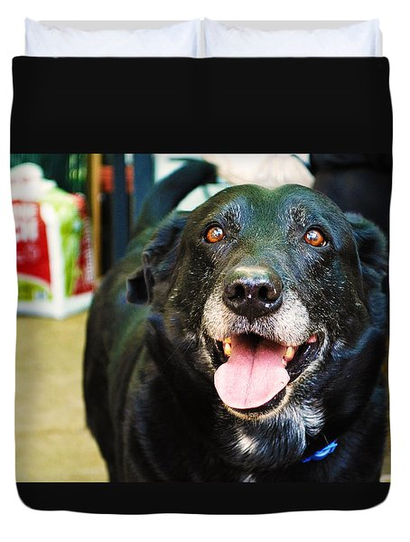 Dog 4 Duvet Cover by Naomi Burgess