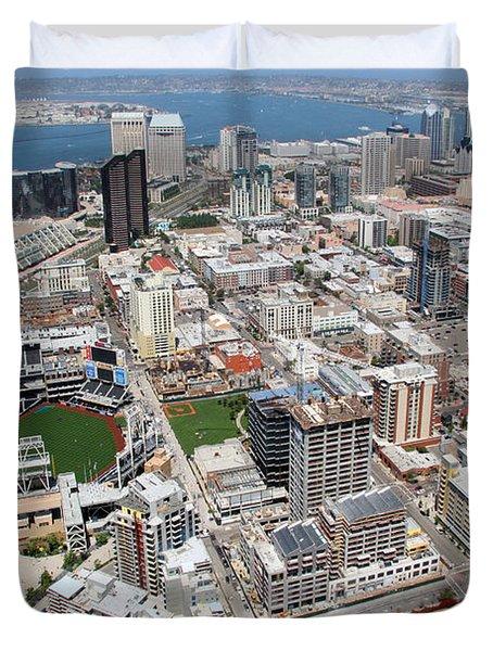 Downtown San Diego Duvet Cover by Bill Cobb