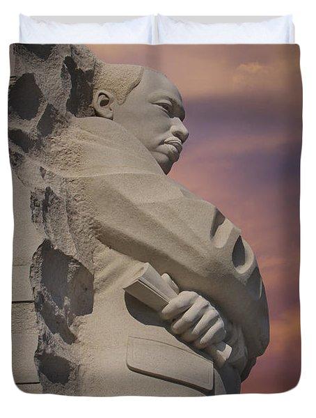 Dr. Martin Luther King Jr Memorial Duvet Cover by Susan Candelario