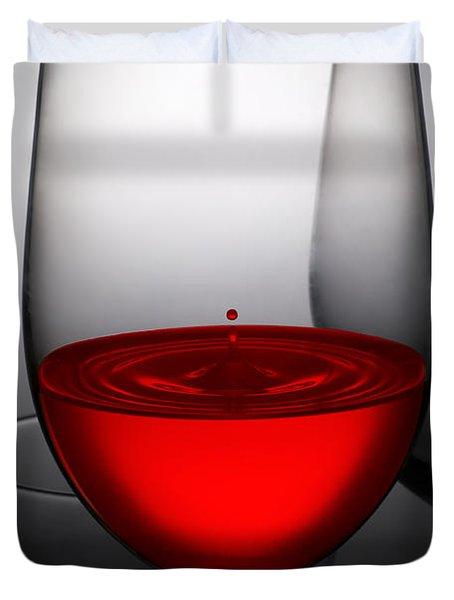 Drops Of Wine In Wine Glasses Duvet Cover by Setsiri Silapasuwanchai