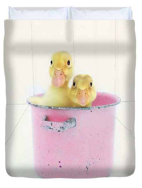 Duck Soup  Duvet Cover by Amy Tyler