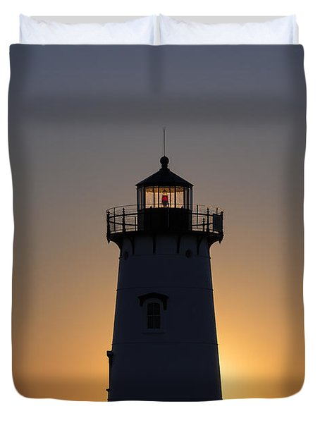 Edgartown Light Sunrise Duvet Cover by John Greim