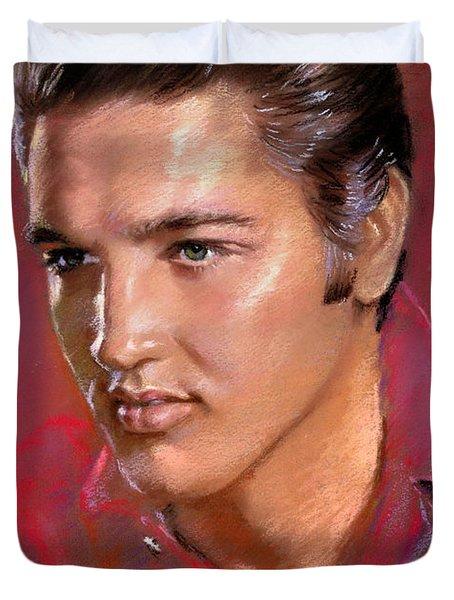 Elvis Presley Duvet Cover by Viola El