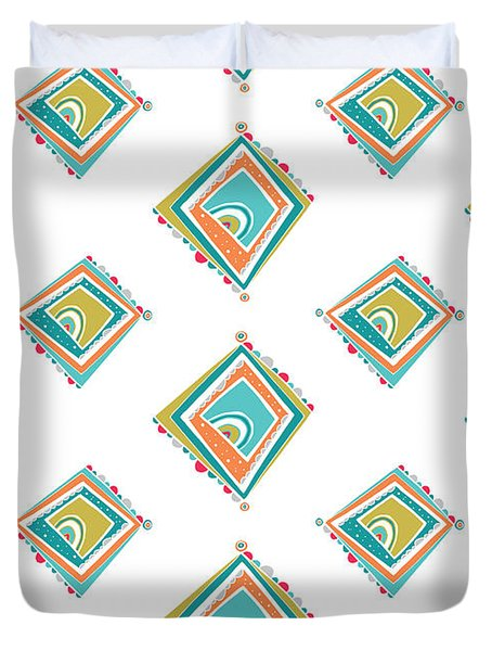 ethnic window Duvet Cover by Susan Claire