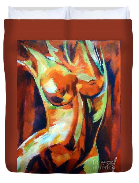 Exhilaration Duvet Cover by Helena Wierzbicki