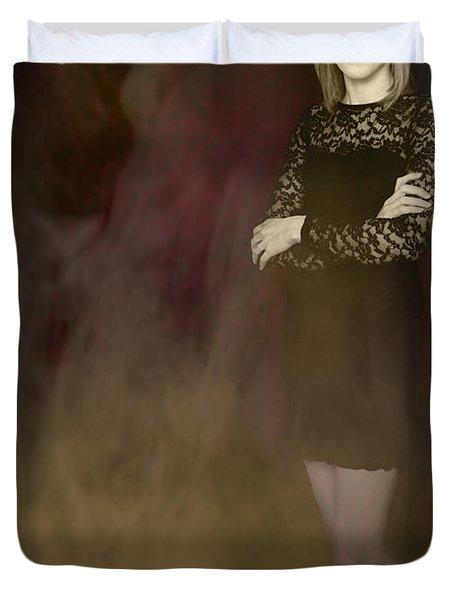 Fantasy Portrait Duvet Cover by Amanda Elwell