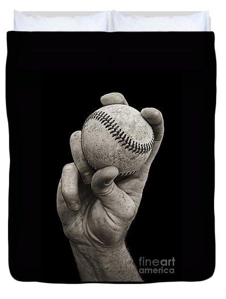 Fastball Duvet Cover by Diane Diederich