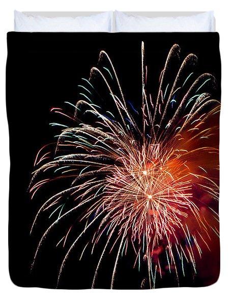 Fireworks Duvet Cover by Grace Grogan