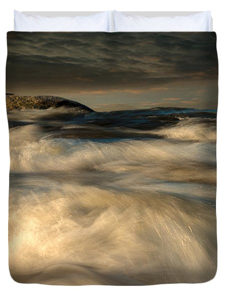 First Light Duvet Cover by Bob Orsillo