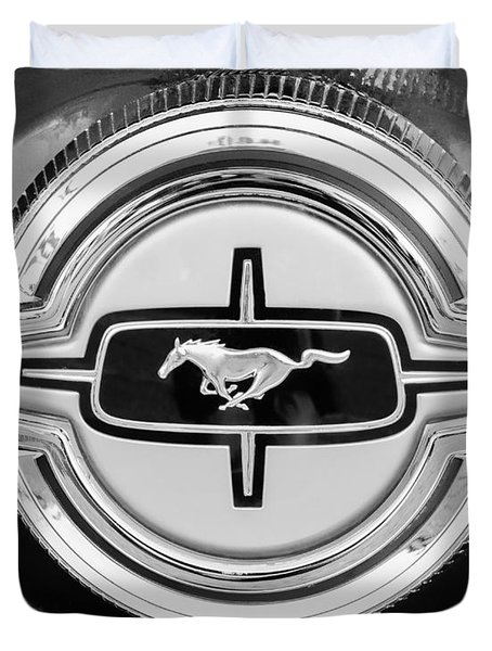 Ford Mustang Gas Cap Duvet Cover by Jill Reger
