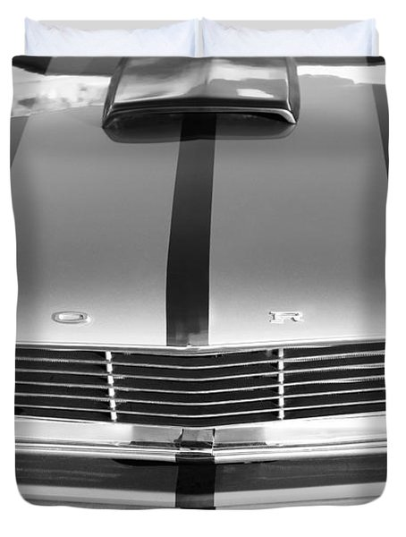 Ford Mustang Grille Duvet Cover by Jill Reger